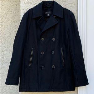INC Men's Black Wool Double Button Jacket Size M